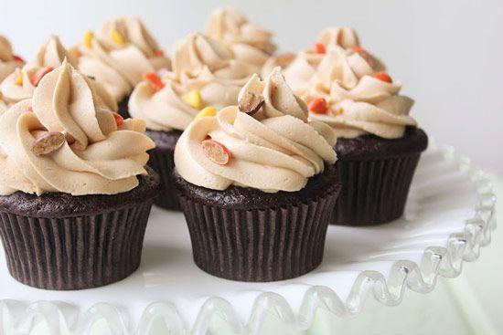 Dark Chocolate Peanut Butter Cupcakes, Cupcake Recipes, The Cupcake Daily Blog, chocolate cupcake recipes