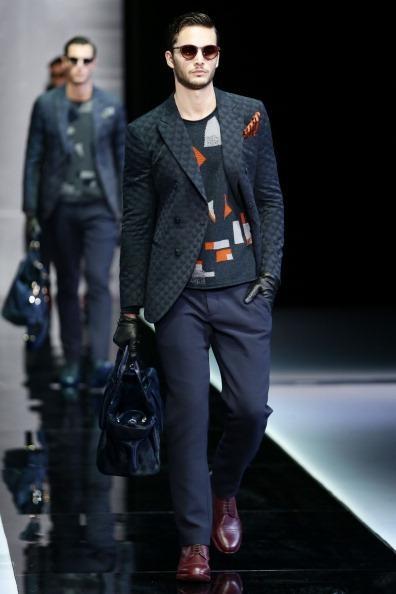 Giorgio Armani fall/winter 2013 men. Milan Fashion Week. #mensfashion #mfw