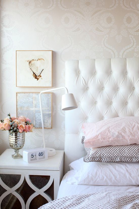 Pretty bedroom. Design by the Cross Design, Vancouver via:  desire to inspire
