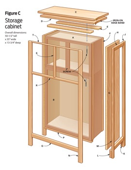 DIY furniture: Storage cabinet made from 2 kitchen cabinets