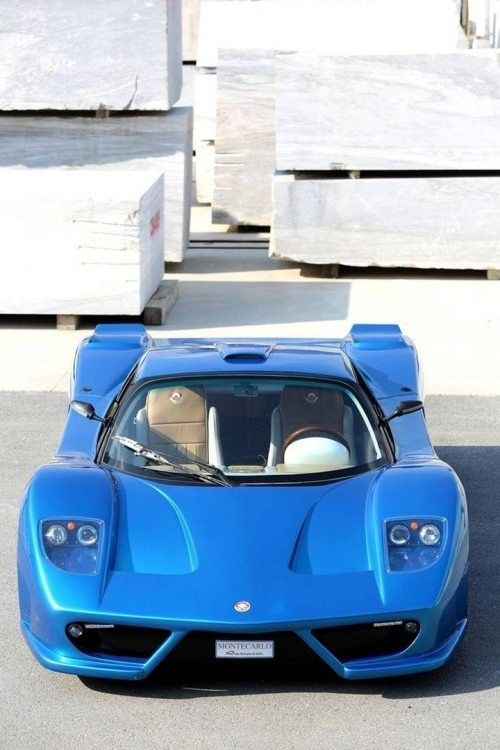 Blue Sports Car #customized cars #luxury sports cars