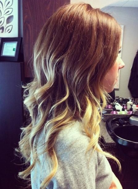 I love that it's ombré but not a solid ombré, there are more lowlights and peek-a-boo highlights