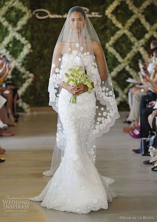 oscar de la renta wedding gown spring 2013 collection