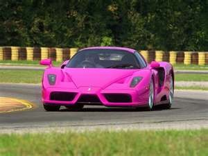 Shocking Pink Enzo, isnt a Farrari enough of a head turner?