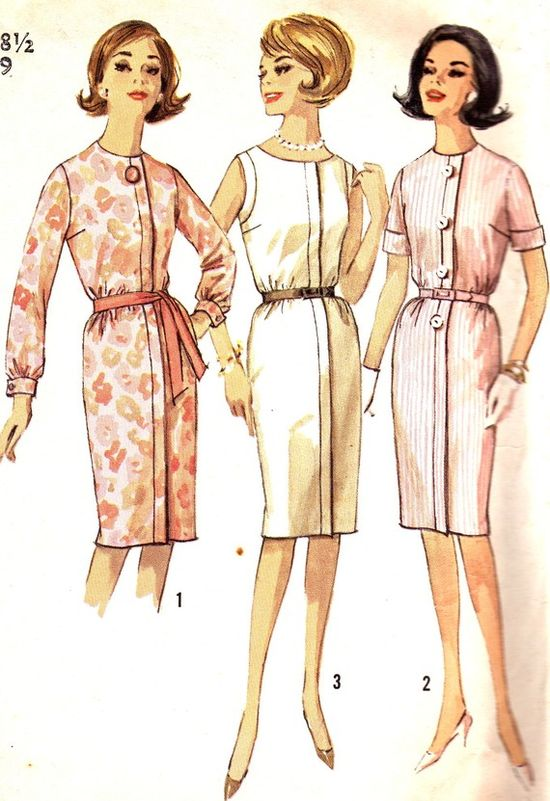 1960s Dress Pattern Simplicity 4988 Day or Evening by paneenjerez, $14.00
