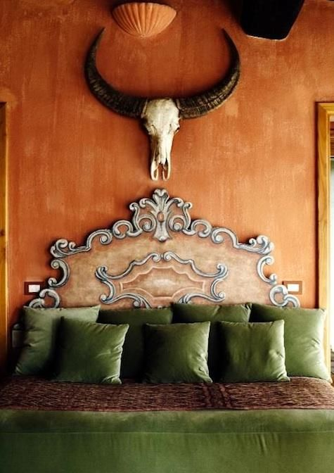 Tuscan eclectic at castello di vicarello - an Italian Hideaway (well, back in 08 when book was published it was a hideaway)