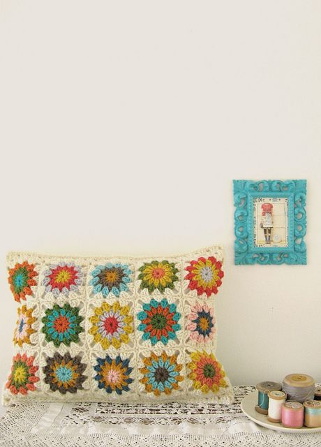 Lovely scene with granny squares