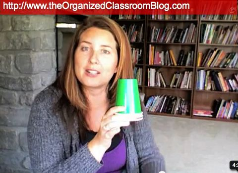Use green, yellow, and red colored cups for group work.  When a table gets too loud, change the cup to yellow.  If the table continues to be too loud, the cup gets changed to red; this means a loss of group time.  Students now have to do their work independently and silently.
