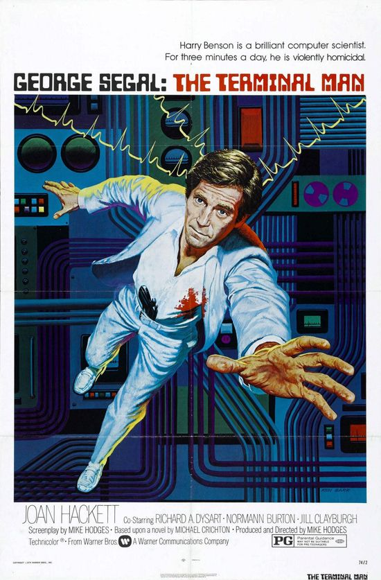 The Terminal Man (Mike Hodges, 1974) Art by Ken Barr
