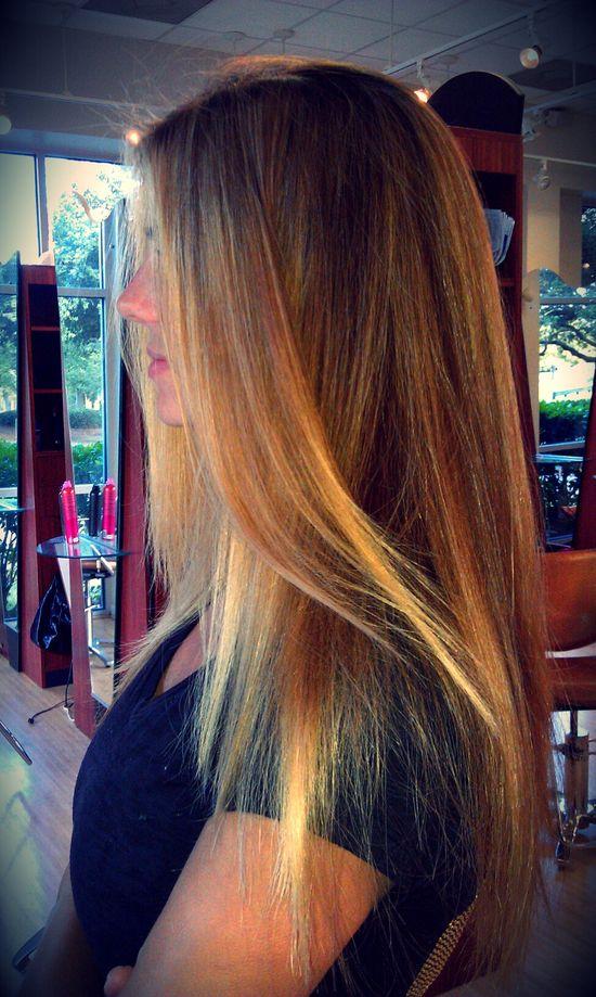 blonde balayage highlights long hair