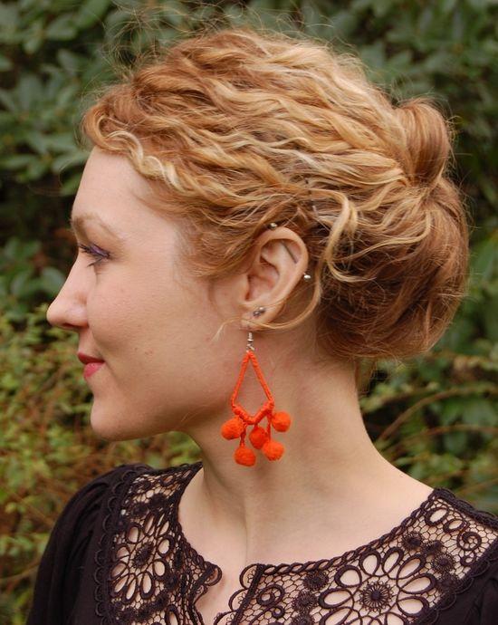 DIY Pom Pom Earrings
