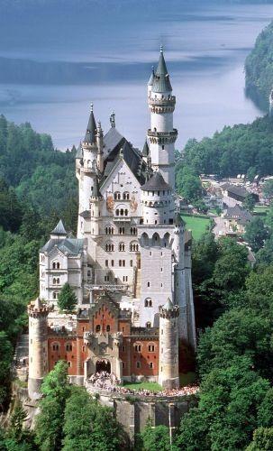 Neuschwanstein in Upper Bavaria, Germany.