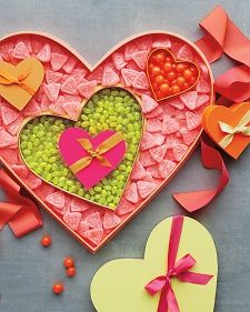How to Make Valentine Candy Boxes~T~ How much fun, to make your own heart boxes and fill them with homemade candy.