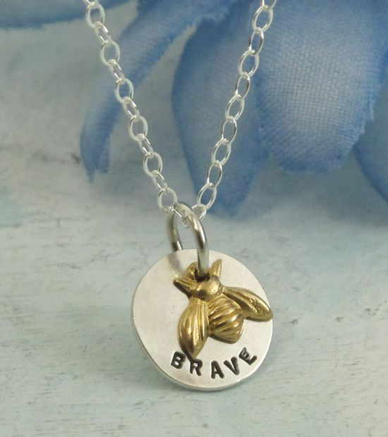 Bee Charmed Necklace  sterling silver and brass by KathrynRiechert, $32.00    These are one of my best selling designs at art shows!