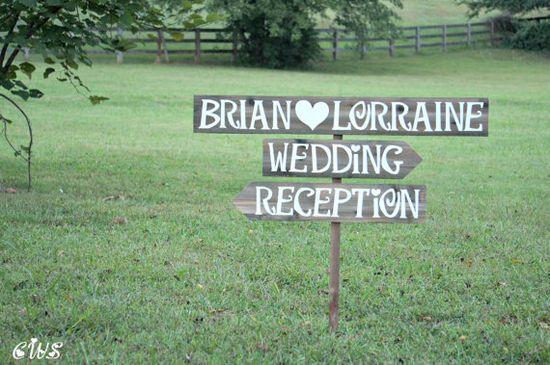 Wedding Reception Sign Wedding Reception by CountryWeddingSigns