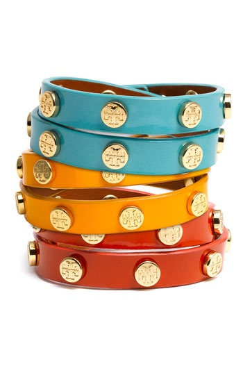 // Colorful Tory Burch bracelets
