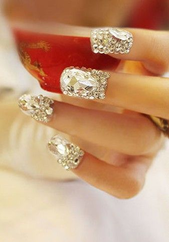 Diamonds are a girls best friend- even on our nails
