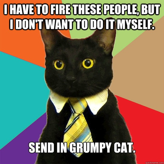 Business cat needs Grumpy cat