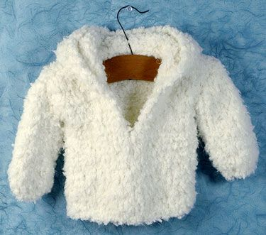 """Free knit American Girl 18"""" Doll coat pattern.  So snuggly!"""