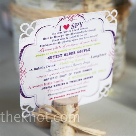 A cute idea for the reception!