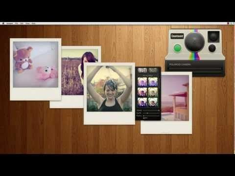 "Funny Mac App, ""re-shot"" your digital photos like a Polaroid"