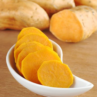 Gluten-Free Snacks: Baked Sweet Potato with Butter and Honey