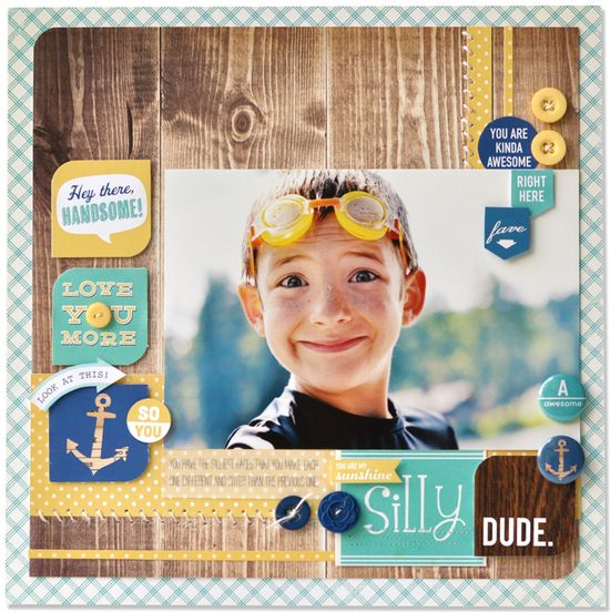 #papercraft #scrapbook #layout OA_AllBoyLO_AH Love the 3x4 cards are altered...need to remember to do this