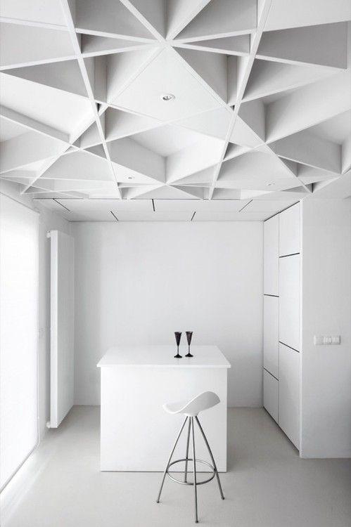 Geometry-Minimalist White Interior