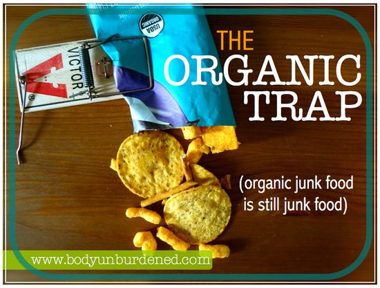 The organic trap is easy to fall into. What is it? Believing that everything with the organic seal is automatically healthy - including processed foods. But there's much more to it. Health, diet, and nutrition.
