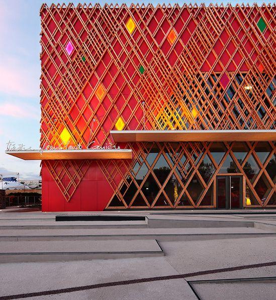 A+ architecture: jean-claude carriere theatre, montpellier  - designboom
