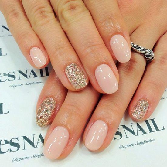 #love #gorgeous #pink #silver #sparkle #nails #babypink #esnail #pretty #cute