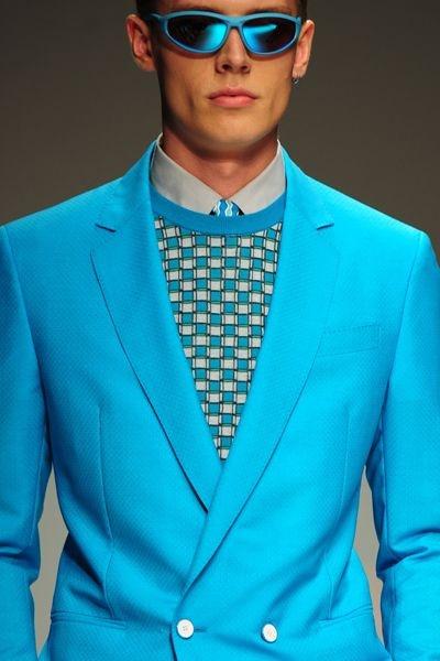 Wow. Spring Summer Blues – Salvatore Ferragamo Spring-Summer 2013 / Men's fashion week in Milan
