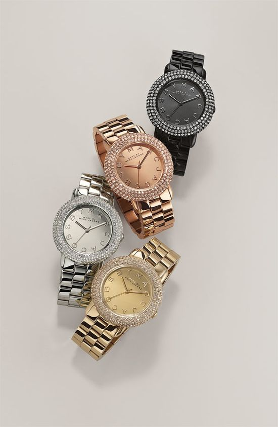 Best Boss Ever: MARC BY MARC JACOBS 'Marci' Mirror Dial Crystal Bezel Watch #Nordstrom #Holiday