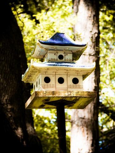 Pagoda bird house