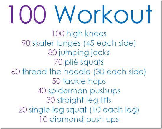100 Workout...INTENSE!