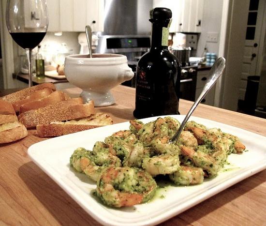 Shrimp Pesto Appetizer