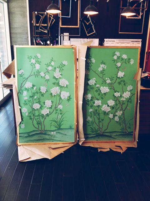 Chinoiserie wallpaper- Grant K. Gibson