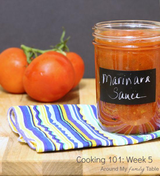 Homemade Marinara Sauce....Cooking 101 Basics Week #5