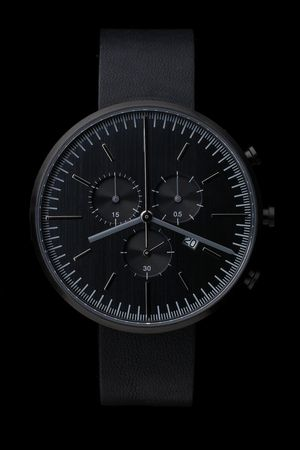300 Series (PVD Black / Black Leather)