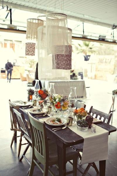 fabric embroidery hoop decor #wedding #diy #vintage