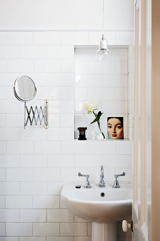 Pretty white bathroom
