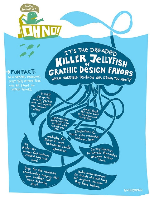 It's the dreaded killer jellyfish of graphic design favors