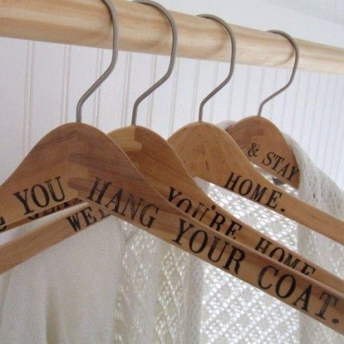 DIY wedding hangers!