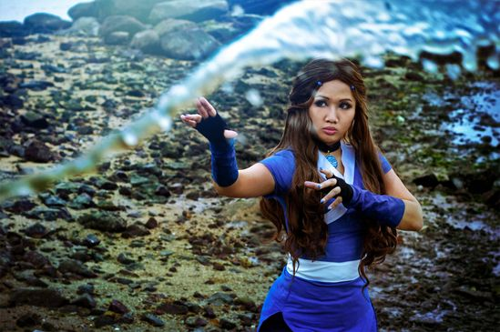Amazing Katara Cosplay! Avatar: Rise with the Moon by *Astellecia