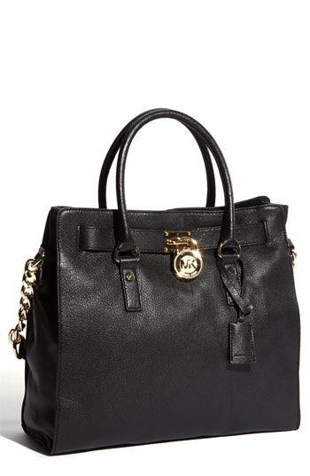 MICHAEL Michael Kors 'Hamilton Gold Plate Chain - Large' Tote