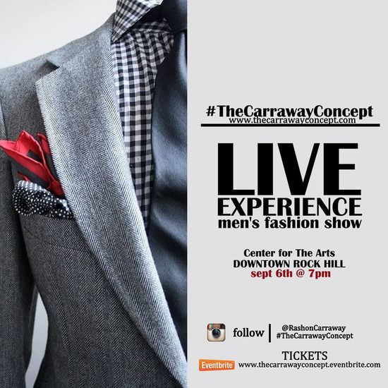JOIN ME for my men's fashion show