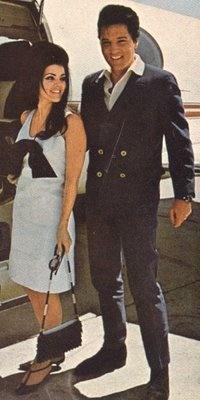 Priscilla Presley and Elvis
