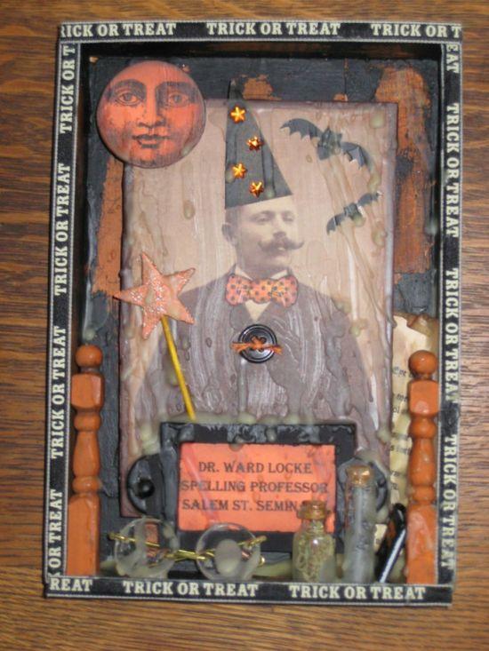 Halloween Folk Art / Altered Cigar Box Warlock by paintedpony99...love this..