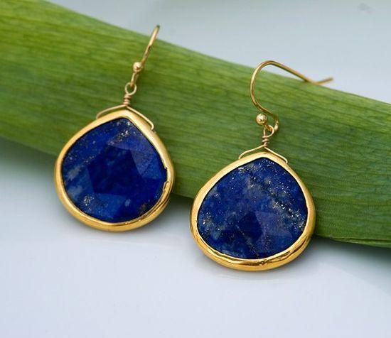Blue Lapis drop earrings