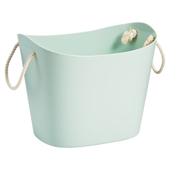 Container Store rope pull tub.